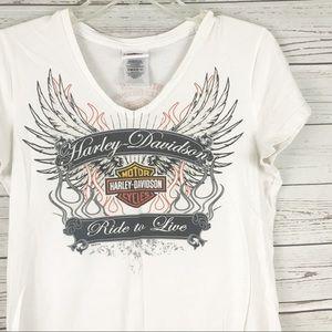 Harley Davidson Ride to Live Shirt Large